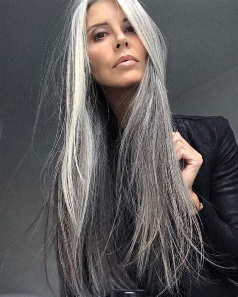 12 best images about grey hairstyles on pinterest her 2018 popular long hairstyles for grey hair