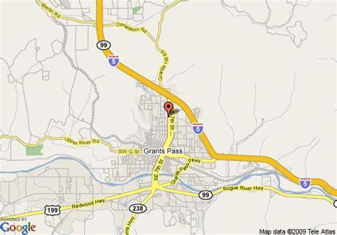 the map grants pass oregon map of sunset inn grants pass