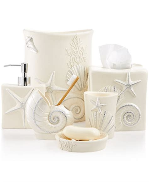 sequin bathroom sets avanti bath sequin shells accessories collection