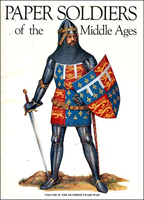 How To Make A Paper Soldier - paper soldiers of the middle ages vol 2 hundred years