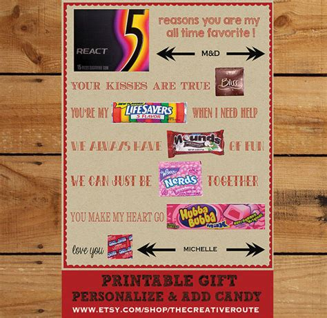 diy valentines ideas for husband anniversary gift diy print and add editable