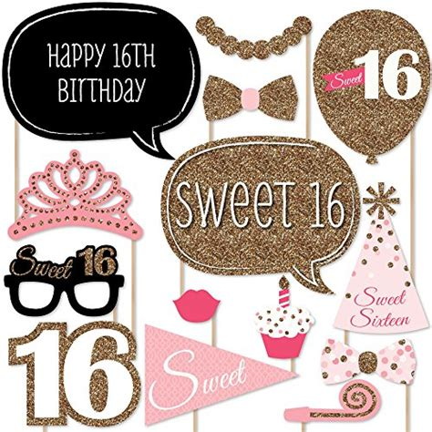 printable photo booth props sweet 16 sweet 16 birthday photo booth props kit 20 count new
