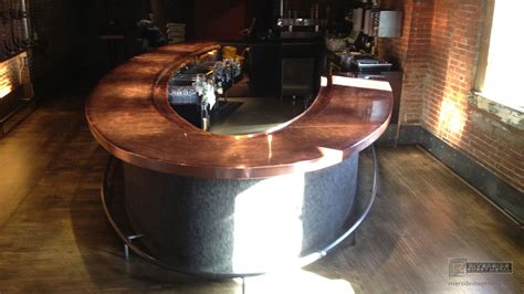 Metal Bar Tops by Bar Top Redone With Copper Copper Counter Tops