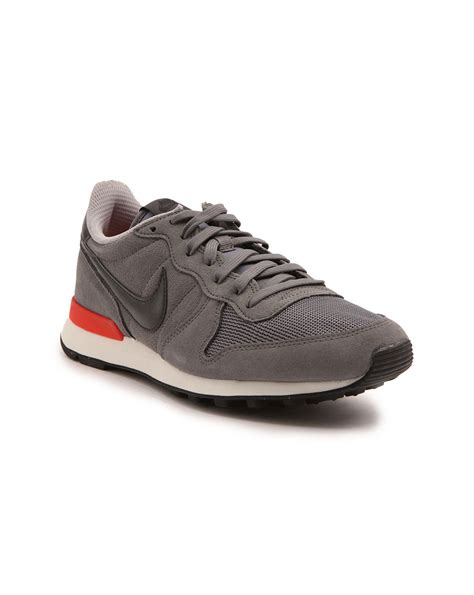 nike internationalist grey suede sneakers in gray for lyst