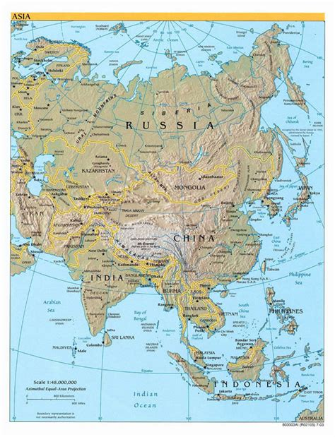 asia map and capitals detailed political map of asia with relief capitals and