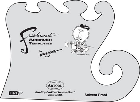 artool freehand essential seven airbrush stencil set of 6