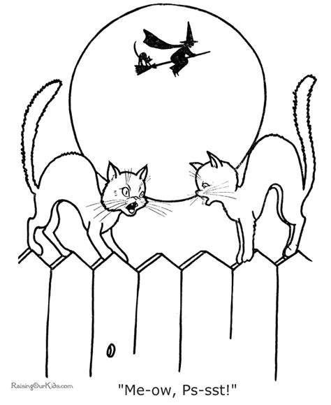 halloween cat coloring pages to print halloween black cat colouring pages page 2 az coloring
