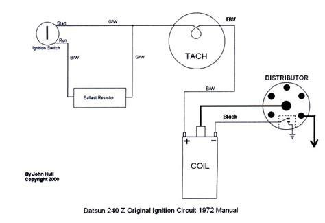 tachometer wiring question nissan datsun zcar forum