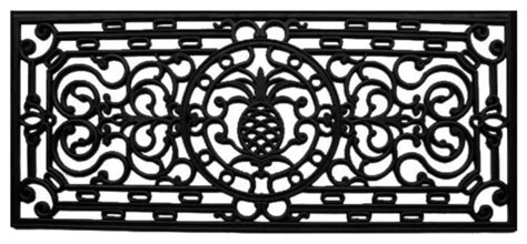 pineapple rubber st home more pineapple heritage rubber doormat reviews