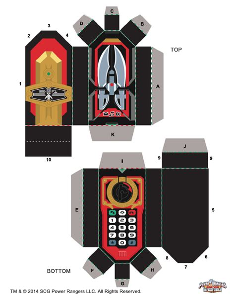 How To Make Power Rangers Morpher With Paper - megaforce morpher power rangers the official