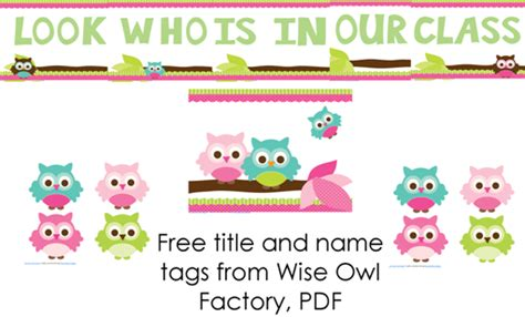 printable owl name tags image gallery owls themed worksheet