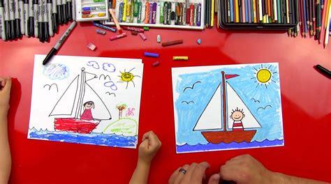 draw  sailboat  young artists art  kids