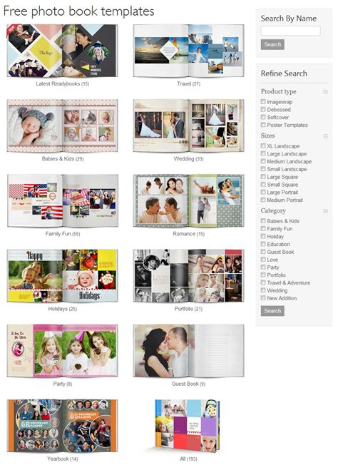 photobook templates free using readybooks in photobook designer or designer