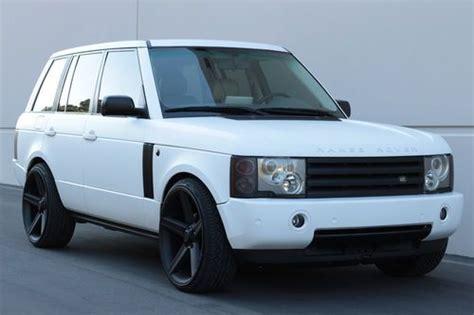 matte white range rover buy used 2003 matte white range rover hse custom 24 quot rims