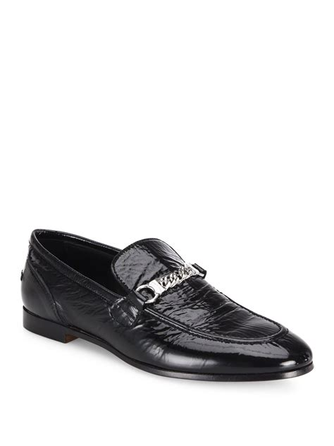 rag bone loafers lyst rag bone cooper patent leather loafers in black