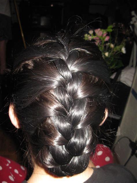 how to under braid french braid tucked under hair pinterest