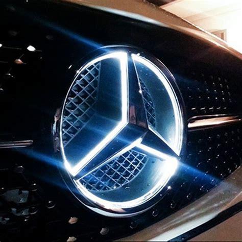 Mercedes Light Up Emblem by 11 16 Mercedes Illuminated Led Light Front Grille Grill Emblem Ebay