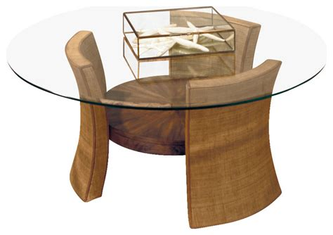 american drew grove point glass top cocktail table