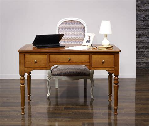 plateau bureau bois bureau 1 2 ministre en merisier massif de style louis