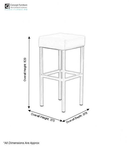 Dimensions Of A Bar Stool by Concept Furniture Hire Corrine Bar Stool Hire