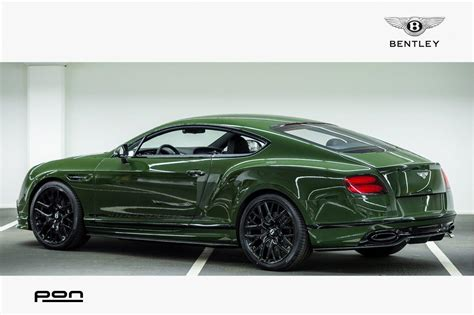 racing green bentley continental supersport in racing green