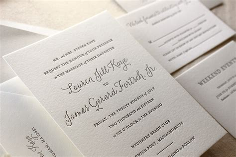 Wedding Invitations Letterpress by Letterpress Wedding Invitations The Suite