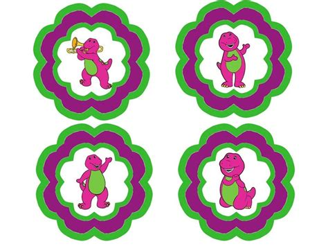 printable barney birthday banner template barney footprints cake ideas and designs