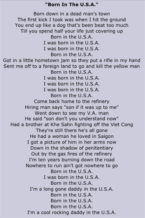 s day lyrics bruce springsteen 17 best images about usa lyrics polos and the o
