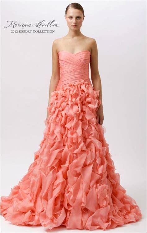 contoh warna peach daily catharsis peach wedding dress