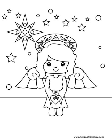 don t eat the paste 2012 angel coloring page