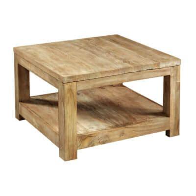 2 vierkante salontafels teakhouten tafels voor een stijlvol interieur teak en wood
