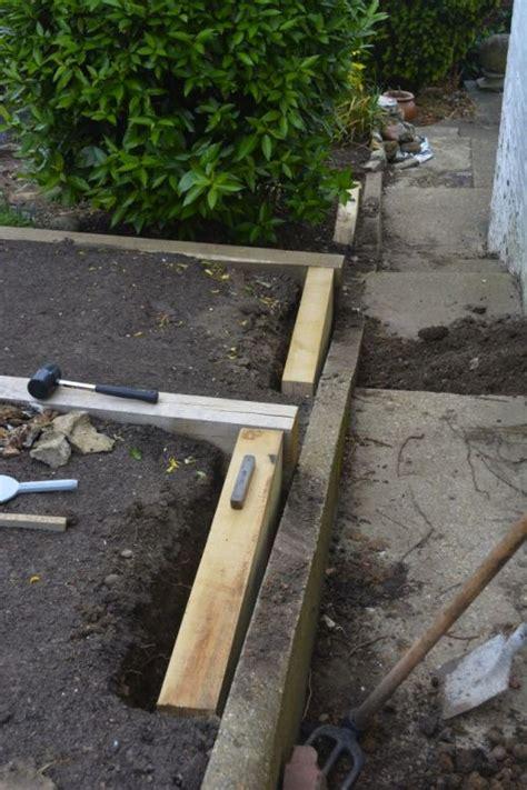 Timberlok Screws For Railway Sleepers by Terrace Beds From New Oak Railway Sleepers