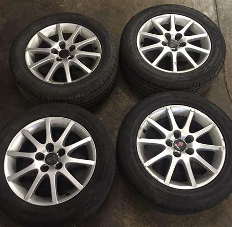 saab 900 9 3 93 9 5 95 16 quot 10 spoke alloy wheels 215 55 16