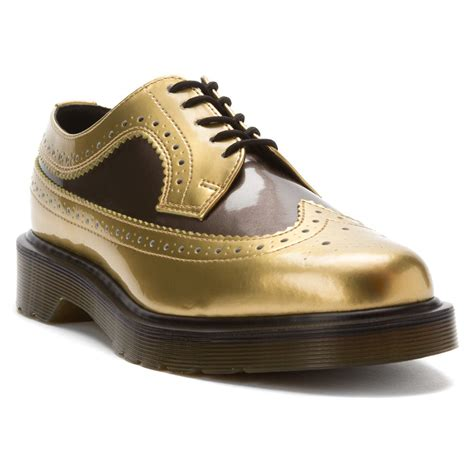 gold oxford shoes dr martens s 3989 gold pewter brogue oxford shoes