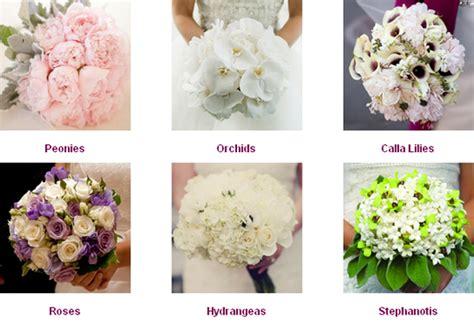 Wedding Bouquet Flower Types by Wedding Flowers Wedding Flower Types
