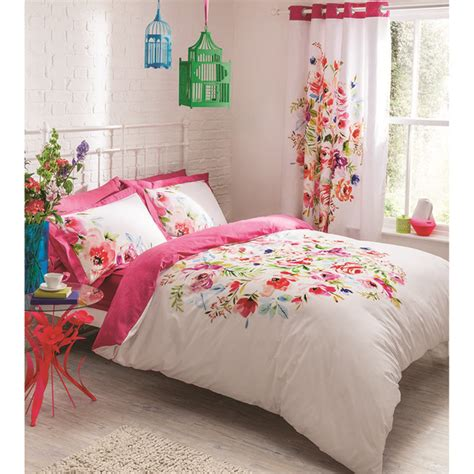 catherine lansfield bright floral bedding set multi