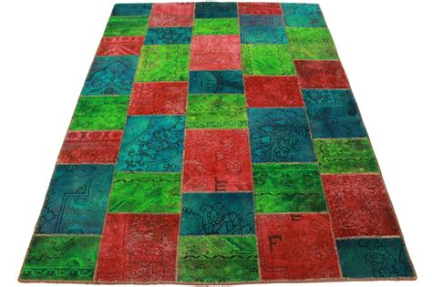do rug patchwork rug green turquoise in 200x150cm 1001 2537 buy at carpetido de