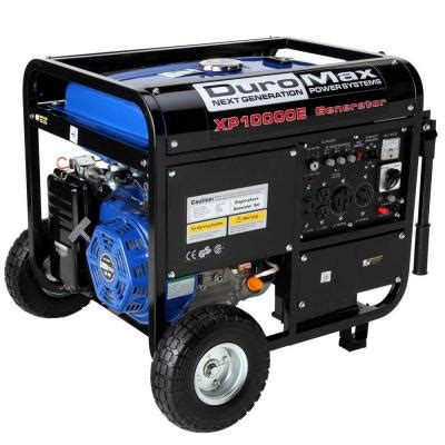duromax 10 000 watt gasoline powered electric start