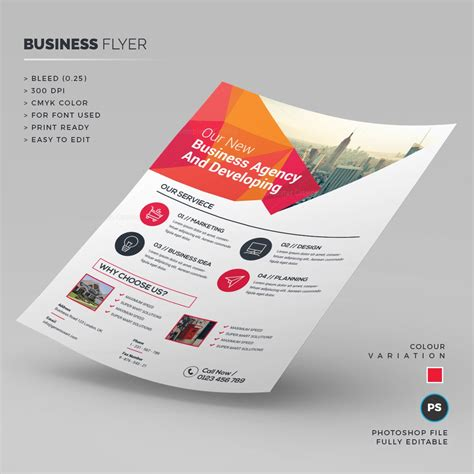 clean business flyer template 000249 template catalog