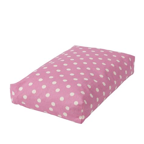 pink dog beds rectangular dog bed set polka dot pink 187 crate covers more