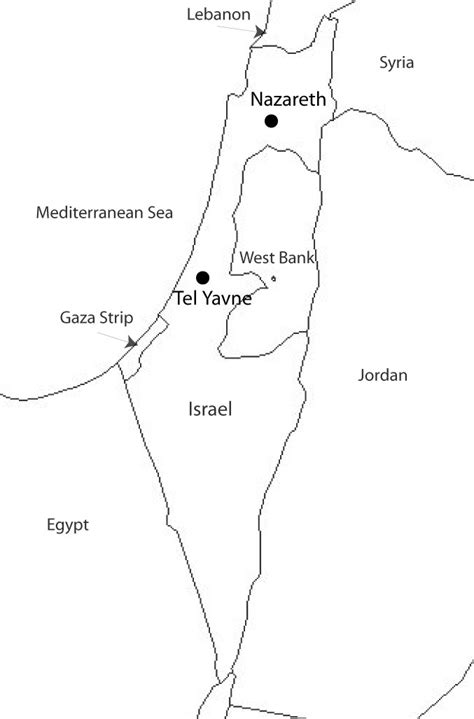Free Outline Map Of Israel by Blank Map Of Ancient Israel