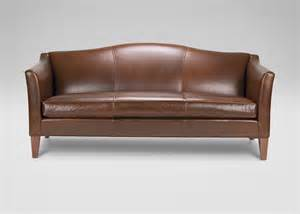 Bench Sofa Hartwell Bench Cushion Leather Sofa Ethan Allen