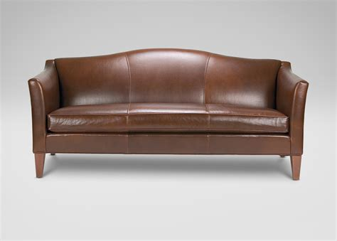 leather settee bench hartwell bench cushion leather sofa ethan allen