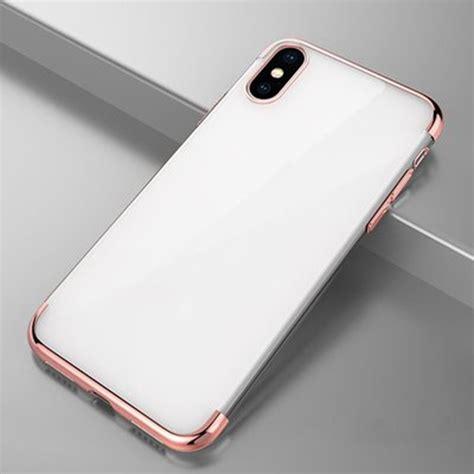 iphone x plating transparent phone cover