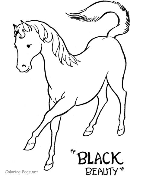 horse coloring pages black beauty