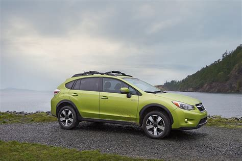 green subaru subaru crosstrek hybrid is green in the big apple