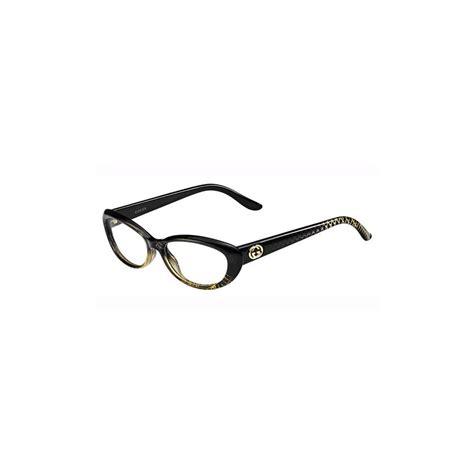 gucci womens eyeglasses 3566 w8h 16 plastic oval black