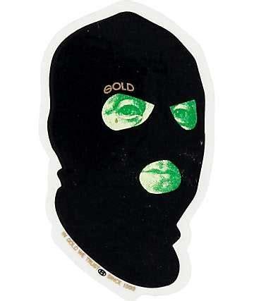 gold bad money sticker skate stickers graffiti art ski