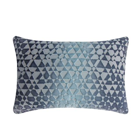 Kevin O Brien Pillows by Kevin O Brien Studio Triangles Velvet Decorative Pillow