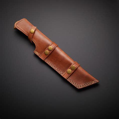 Handmade Knife Sheath - handmade damascus tracker knife sheath trk 05